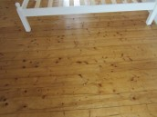 Bedroom floor is decontaminated and as good as new.
