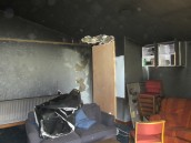 Fire Damage Recreation Room